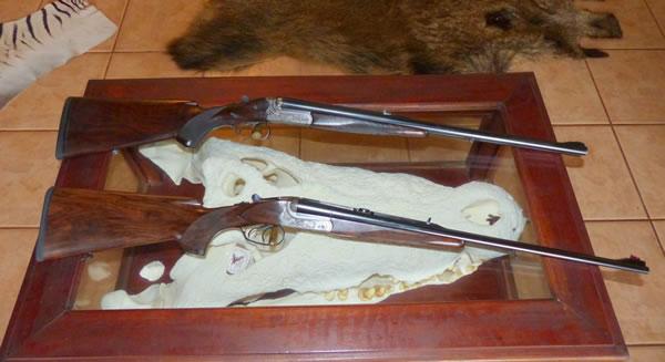 Double rifles, 470NE and 9.3x74R